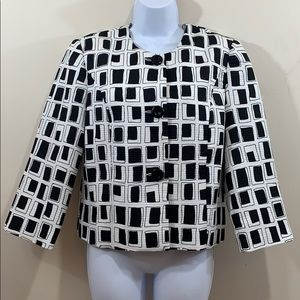 Investments Front Button Lined Blazer Jacket Sz 8